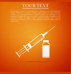 medical syringe and vial concept of vaccination vector image