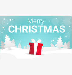 merry christmas white landscape concept banner vector image