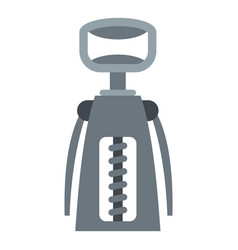 metal corkscrew icon isolated vector image