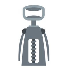 Metal corkscrew icon isolated vector