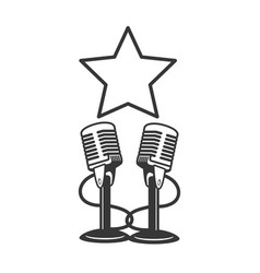 microphone sound icon vector image
