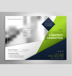Modern green business presentation brochure design vector