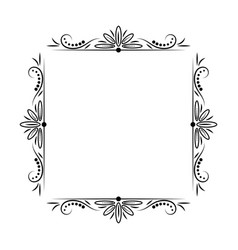 modern stylish vintage black frame vector image