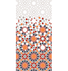 Morocco arabesque pattern geometric vector