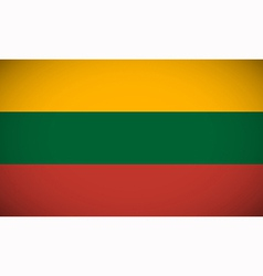 National flag of Lithuania vector image