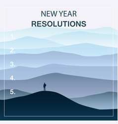New years resolution in the new year men standing vector