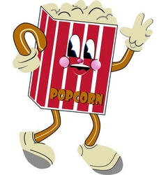 nostalgic popcorn vector image