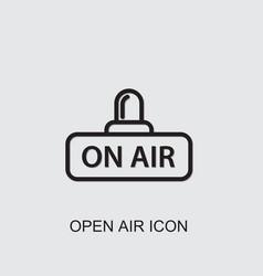 Open air icon vector