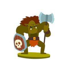 orc warrior monster fantasy or fairy tale vector image