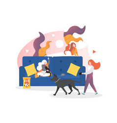 pet care concept for web banner website vector image