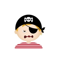 Pirate Facial Expression vector image