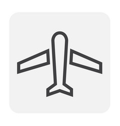 plane icon black vector image