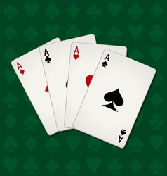 Poker Of Aces vector image