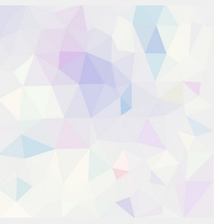 Polygonal mosaic background in pastel colors vector