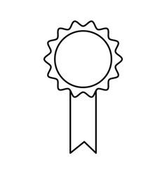 premium certificate medal award line vector image