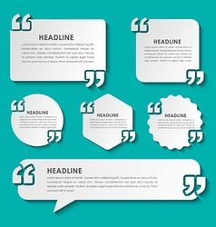 Quotes in quotation marks in on stickers vector