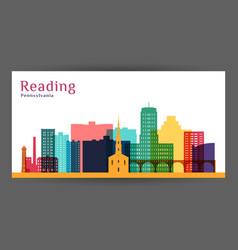 Reading city pennsylvania architecture vector