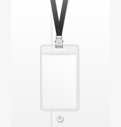 realistic detailed 3d white blank id card template vector image