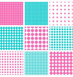 Seamless polka dot pattern vector