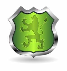 shield with lion vector image