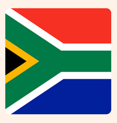 South africa square flag button social media vector