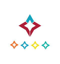 star icon colored logo vector image