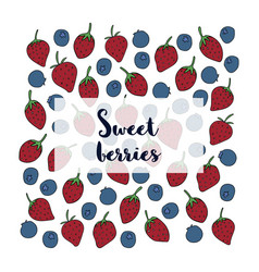 sweet berries cover vector image