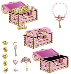 treasure chest for a princess vector image