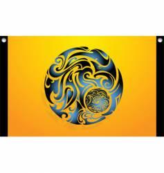 tribal swirl globe vector image