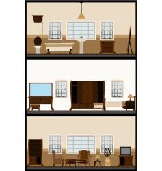 Vintage living room vector