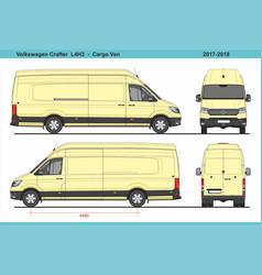 Volkswagen crafter cargo van l4h3 2017-2018 vector