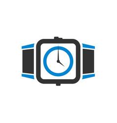 watch technology logo design vector image