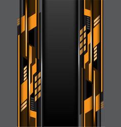 yellow gray design futurisitc technology vector image