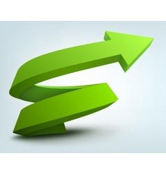 Abstract 3d arrow logo vector image