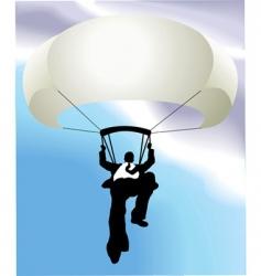 businessman parachute vector image