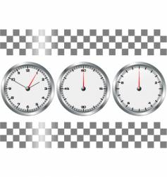 chronographs vector image vector image