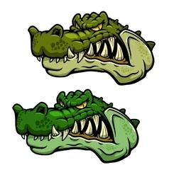 Crocodile character head with bared teeth vector image