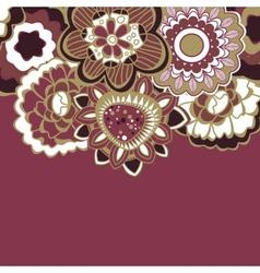 Floral decorative border in trendy colors vector image