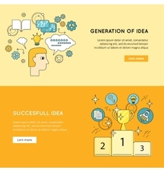 Generation Successful Idea Banners vector image