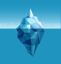 ocean iceberg antarctic landscape vector image