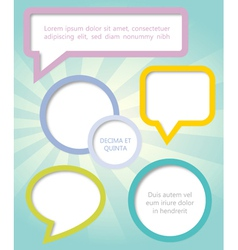 Paper clouds and speech bubbles vector image vector image