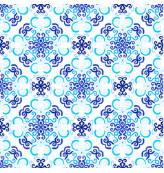 blue background stylized floral pattern vector image vector image