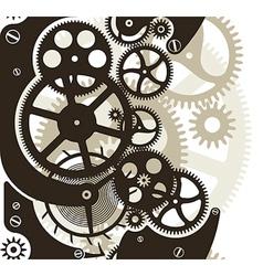 Cog wheels seamless vector image