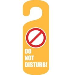 do not disturb door hanger vector image