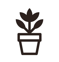 Flower in pot icon vector image vector image