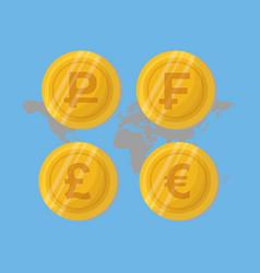 global money economy vector image