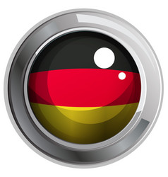 icon design for flag of germany vector image vector image