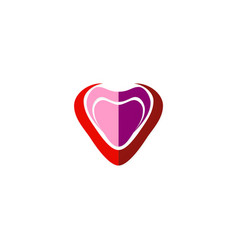 love abstract heart logo vector image