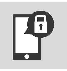 network smartphone protection digital vector image vector image