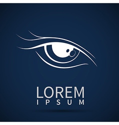 eye icon look human vision symbol vector image